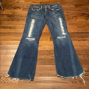 Vintage size 29 True Religion destroyed jeans